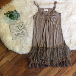 A'Reve Ruffled Boho Dress